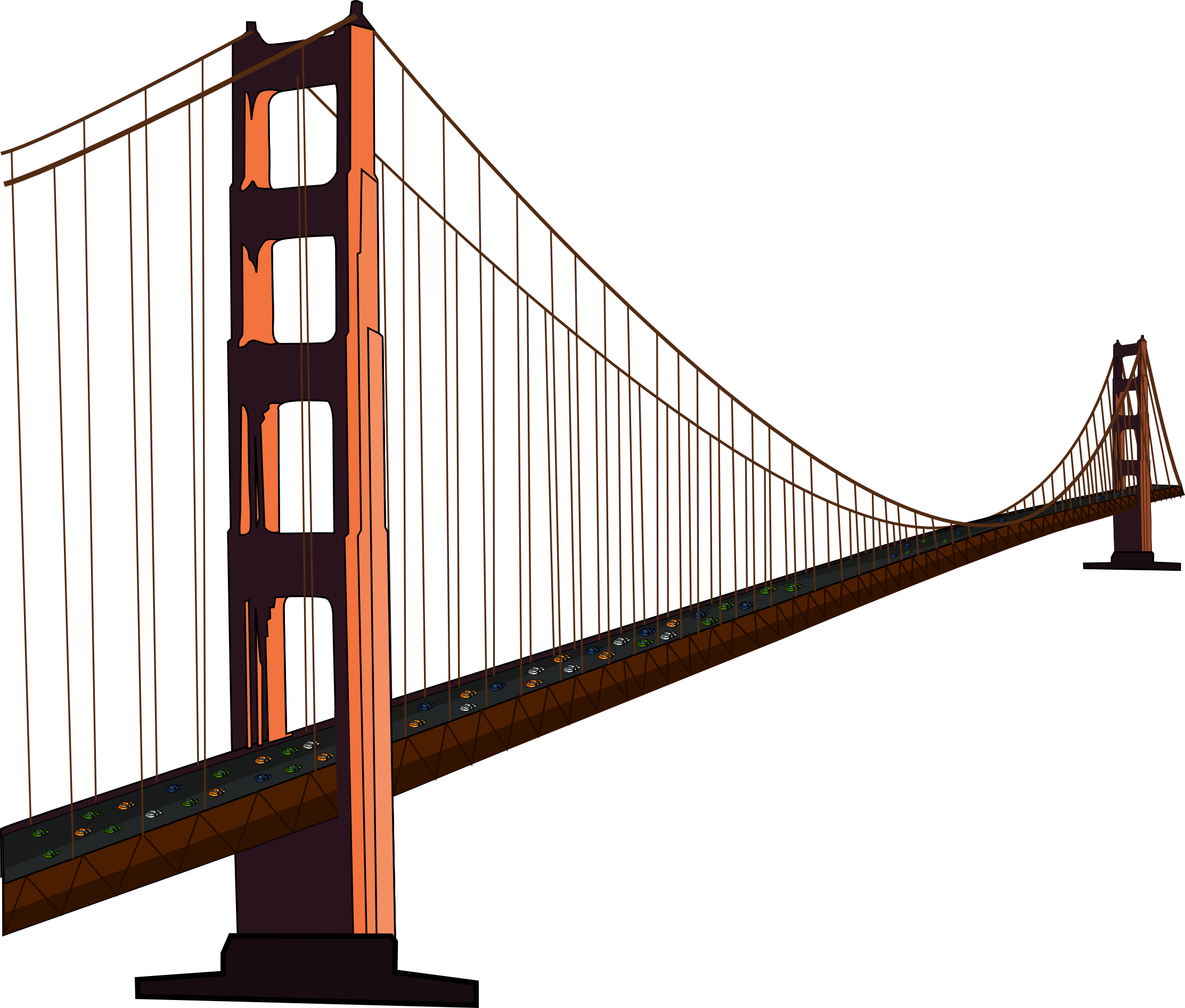 free golden gate bridge clip art clip art 2 pinterest golden rh pinterest com golden gate bridge clipart black and white Golden Gate Bridge SVG
