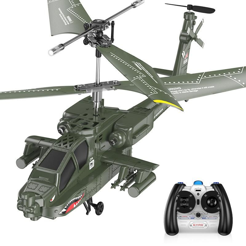 22 SYMA S109G 3.5CH Beast RC Helicopter RTF AH 64 Military Model Kids Toy
