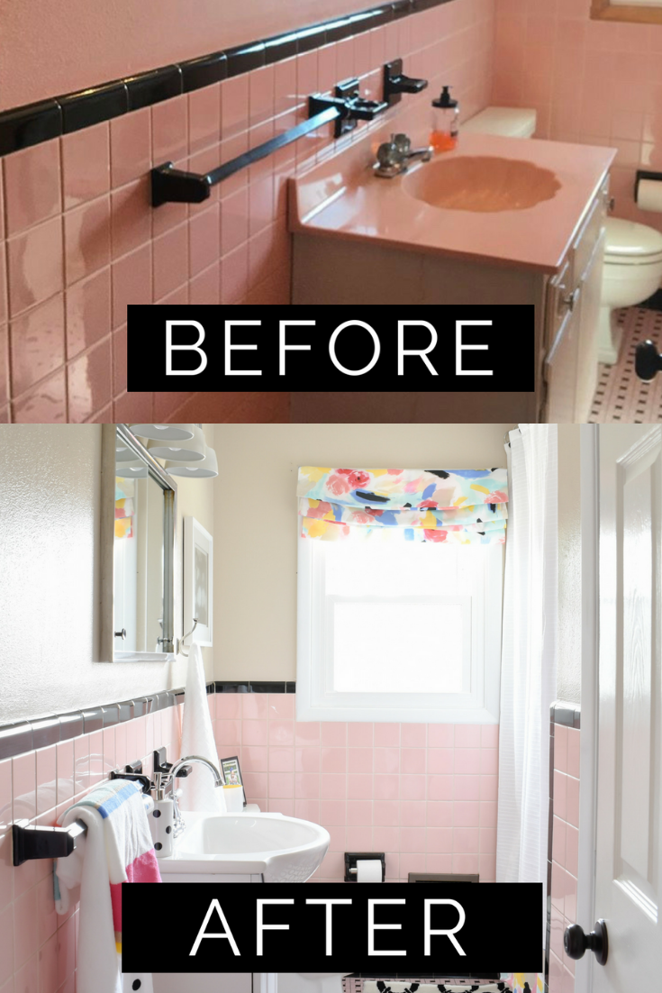 Most Popular Diy Remodel Of 2018 Revealed Restoring A Vintage Pink Tile Bathroom For Under 1 000 Tile Bathroom Pink Bathroom Tiles Diy Remodel