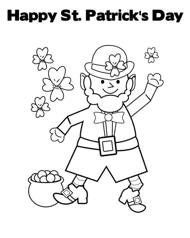 Printable Leprechaun Pattern Kids 1000 Free Printable Coloring Pages For Kids Coloring B St Patrick Day Activities Coloring Pages St Patricks Crafts