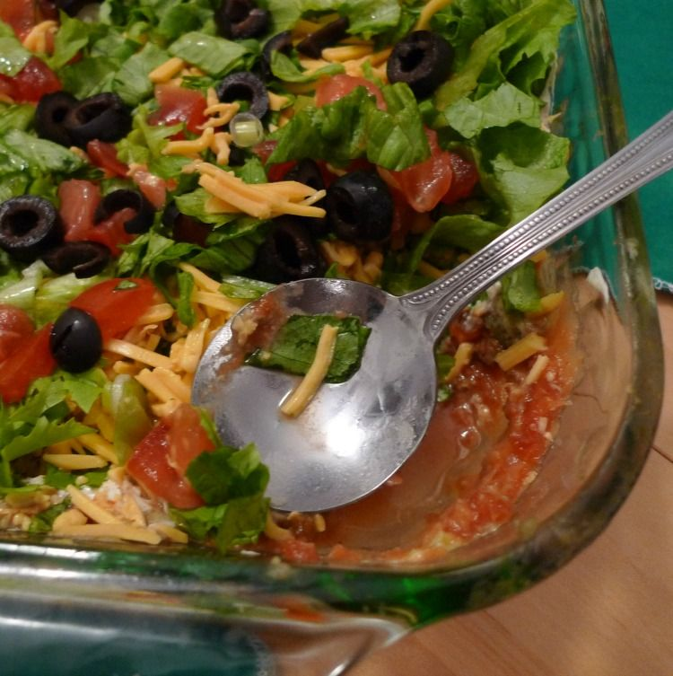 How to Make and Easy 7 Layer Taco Dip  Little House Living