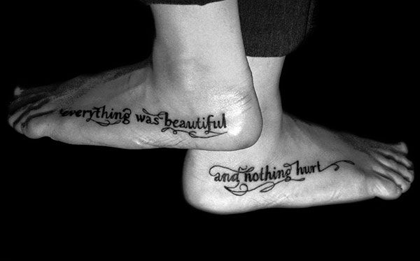 367413c6e outside feet tattoo 25 Refined Foot Tattoos Quotes | Ink me up ...