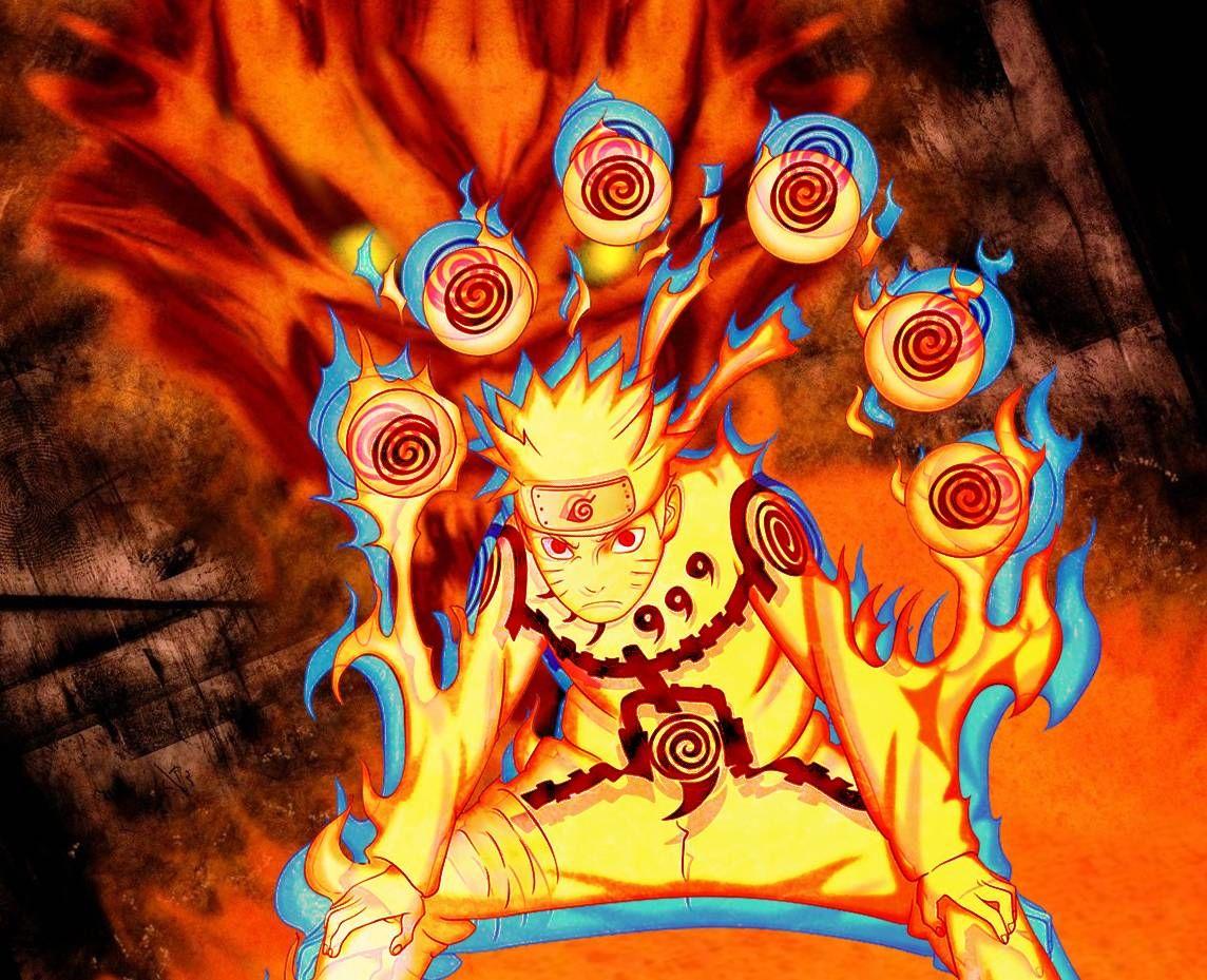 Naruto Nine Tails Coloring Pages Dengan Gambar Makhluk Fantasi