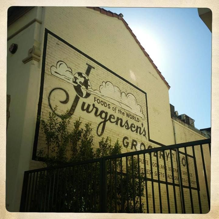 Jurgensen's ghost sign located at 1071 Glendon Ave in Westwood Village.