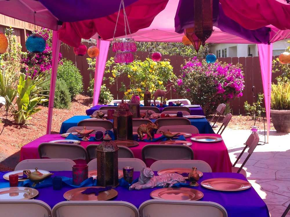 Arabian Aladdin Theme Birthday Party Ideas
