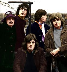 Great pic of a brief 5 piece Pink Floyd
