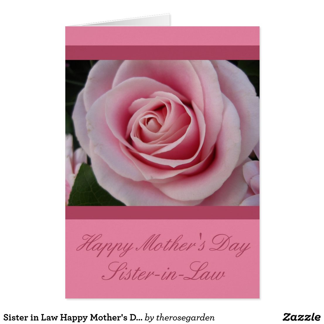 Sister In Law Happy Mother S Day Rose Card Zazzle Com Happy
