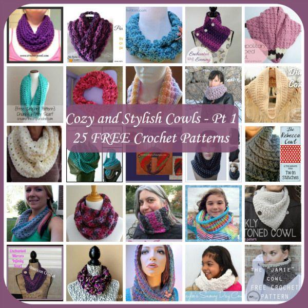 Cozy and Stylish Cowls ~ 25 FREE Crochet Patterns - Part 1 | crochet ...