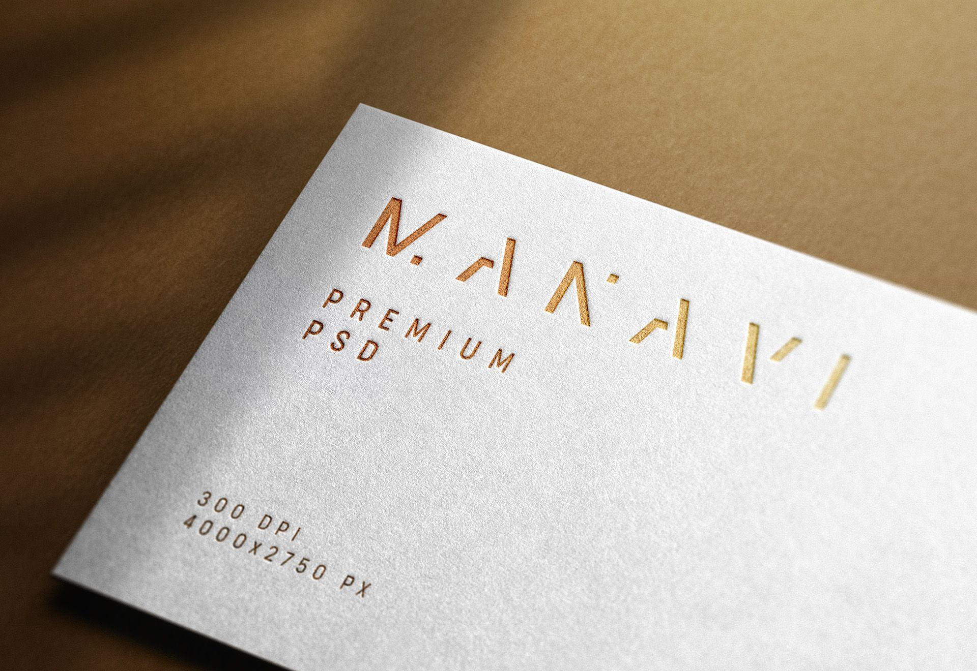 Luxury logo mockup on white business card in 2020 logo