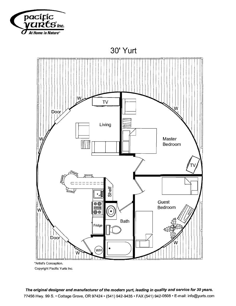 Yurt Floor Plan Yurt Yurt Home Floor Plans