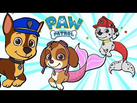 Paw Patrol As Mermaids Mer Pups Costume Time Cartoons For
