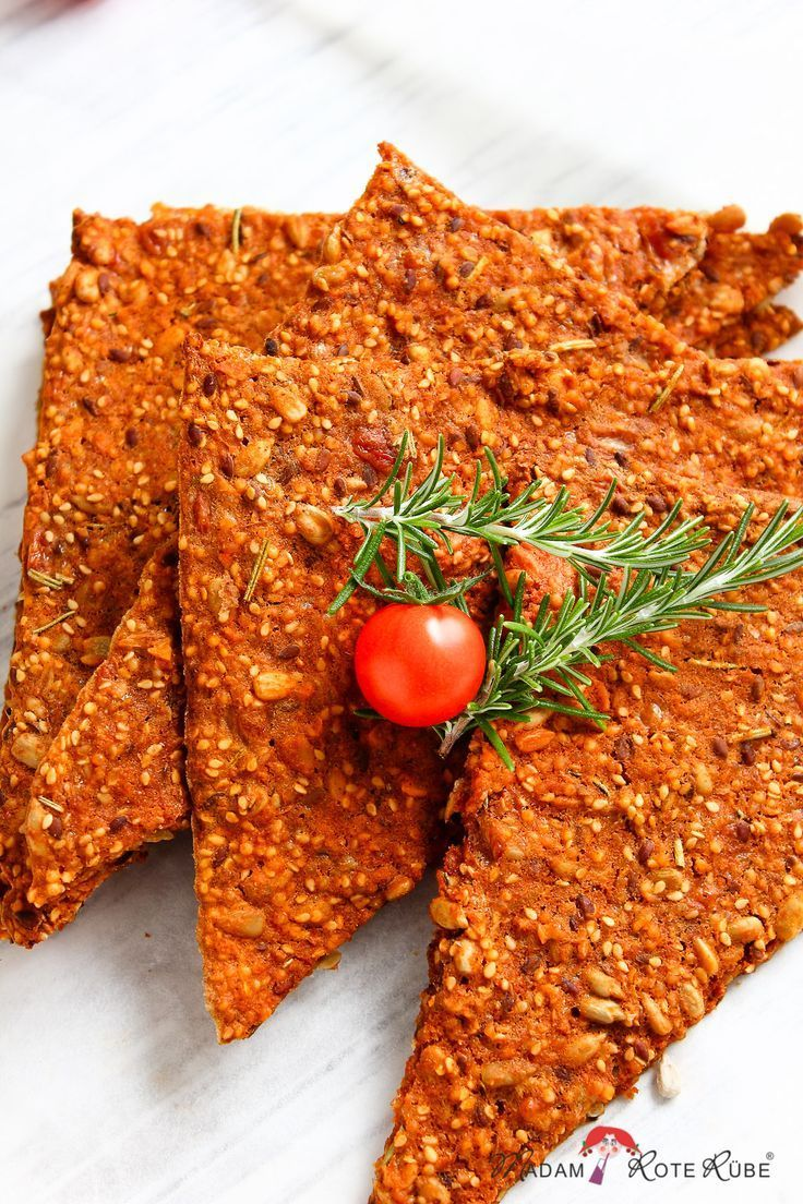 Photo of Crispy parmesan tomato crisps with rosemary, the spicy snack