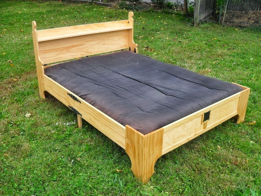 Off The Reservation Homemade Wooden Bed Frame Box Bed Wooden
