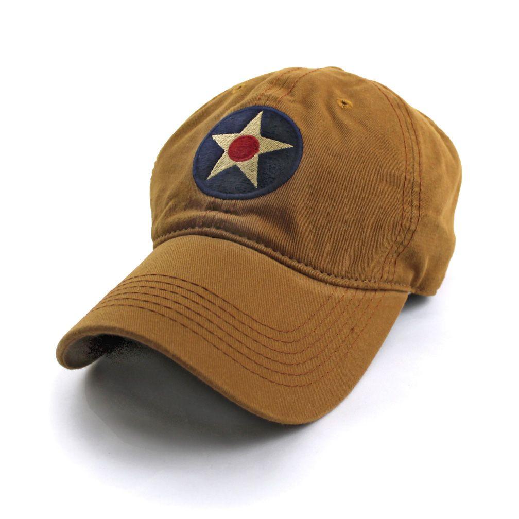Khaki Baseball Cap Army Insignia Hat U.S