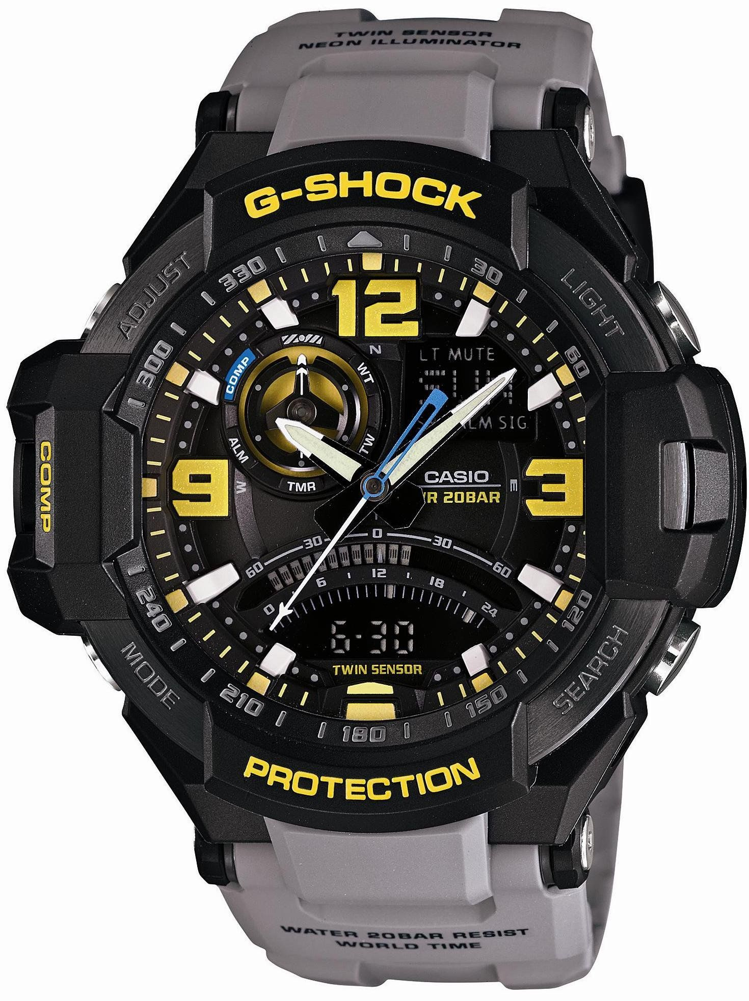 5b3202565c3 Casio G-SHOCK SKY COCKPIT Men s Watch GA-1000-8AJF (Japan Import). G-SHOCK  SKY COCKPIT Series. 20 Bar Water Proof. Compass   Thermometer. LED Light.
