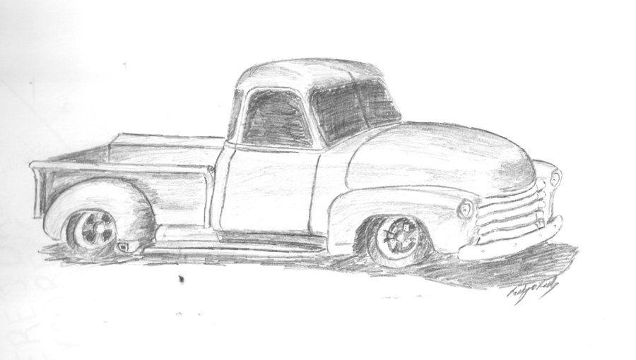 50 u0026 39 s truck sketch by