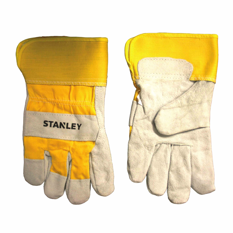 Stanley Tools Pearl Gray FleeceLined Cowhide Leather