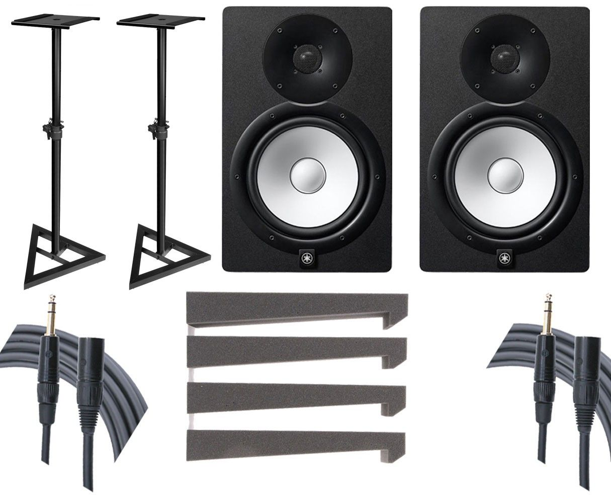 Speakers 2x Yamaha Hs8 Stands Mopads Mogami Cables 85988 Blank Home Theater Wiring