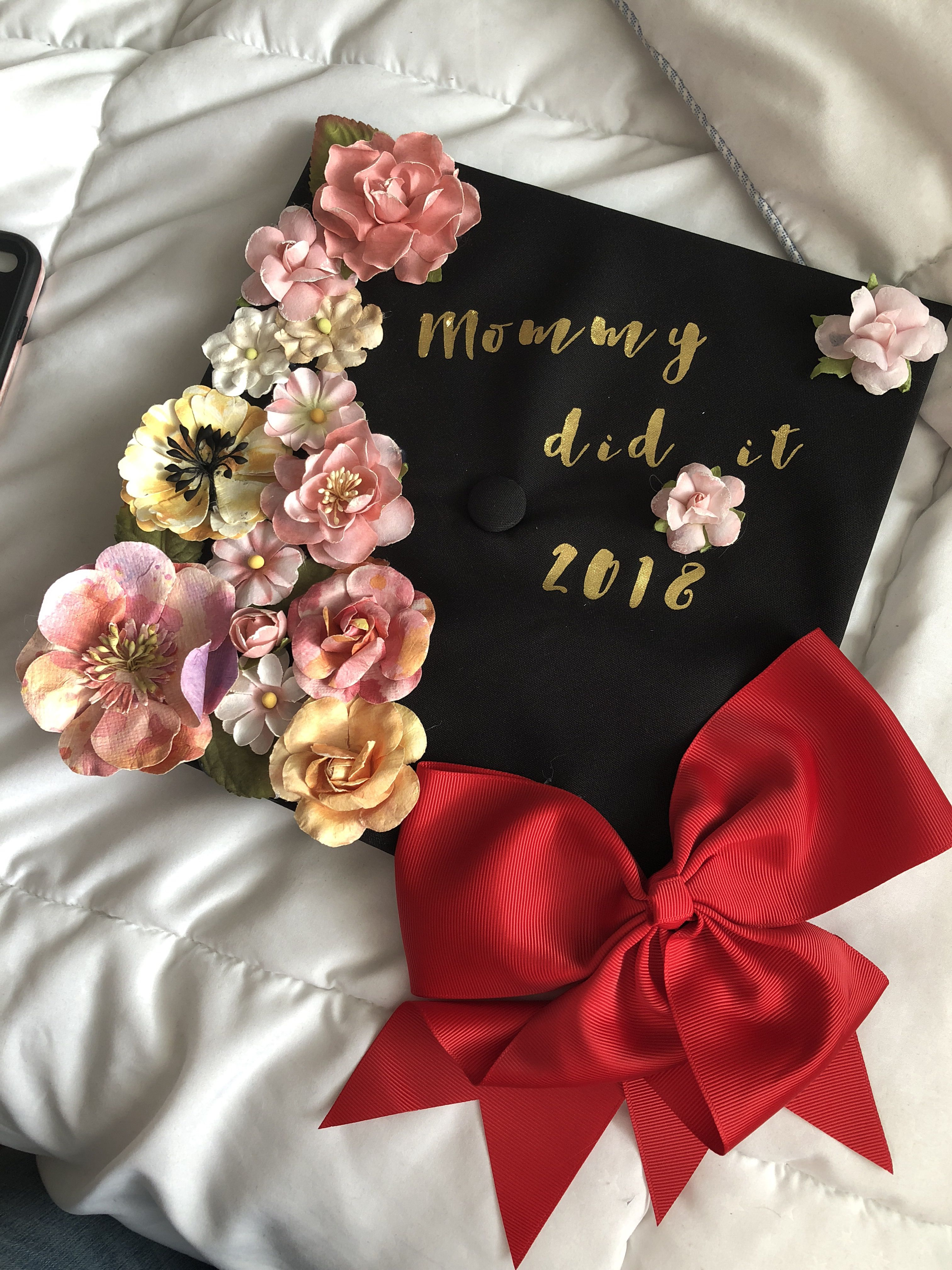 Graduation cap decoration mommy did it | College ...
