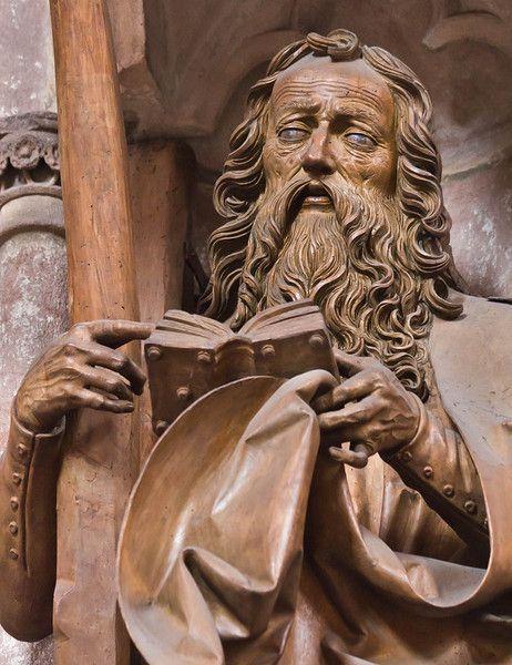 Nuremberg. St. Sebald: hl. Andreas, détail