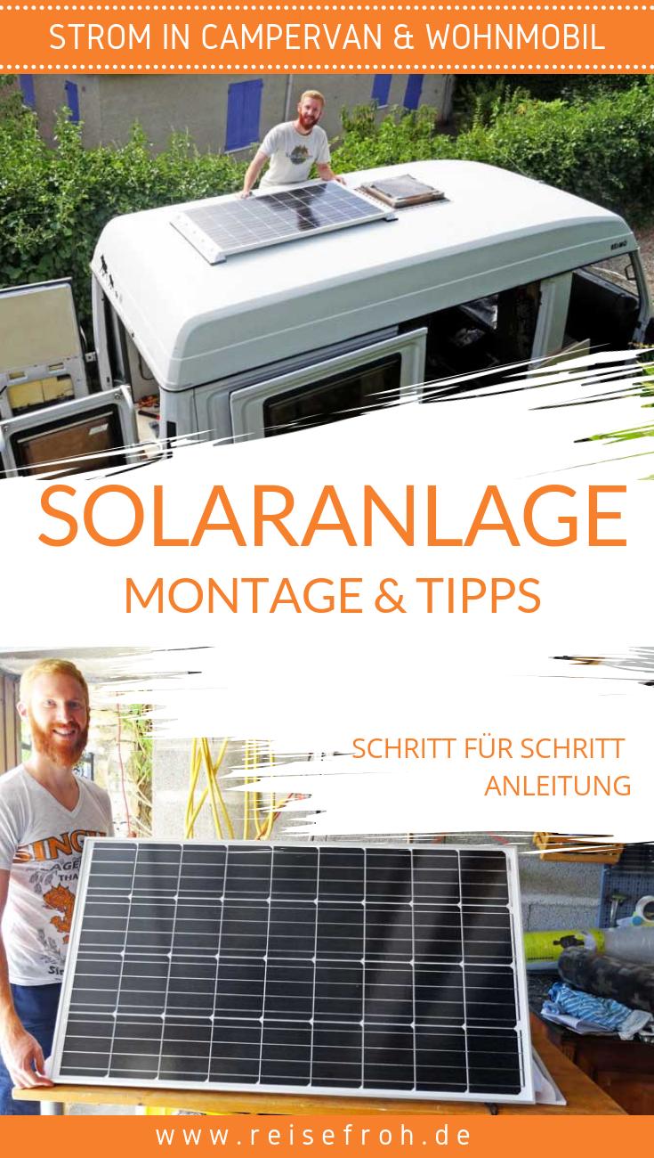 solaranlage wohnmobil einfach g nstig selber montieren. Black Bedroom Furniture Sets. Home Design Ideas