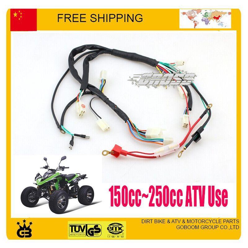 200cc 250cc Atv Quad Zongshen Loncin Lifan Yx Parts Electric Cable Assy Electronic Wire Atv Quad Accessories Free Shipping 250cc Atv Atv Quads 250cc