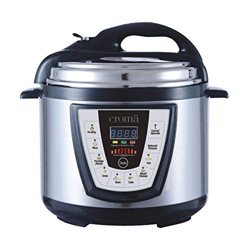 12% Off on CROMA 5 LITRES CRAO1037 ELECTRIC DIGITAL PRESSURE COOKER ...