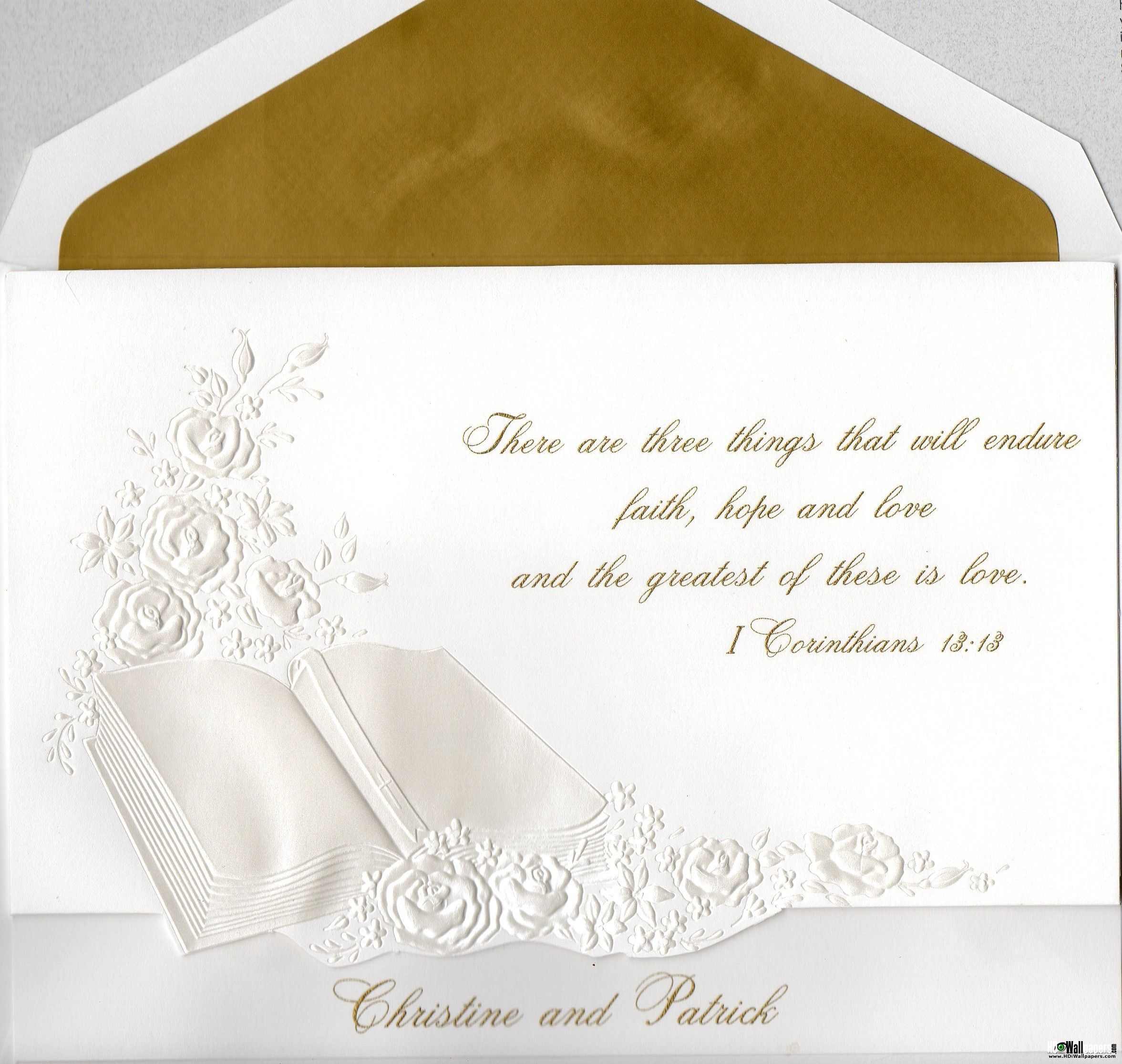 Biblical Quotes For Wedding Cards. QuotesGram | Wedding Invitation ...