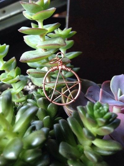 Wire Wrapped Pentacle Charm  FREE SHIPPING by CactusLuna on Etsy #witch #witchy #wicca #occult