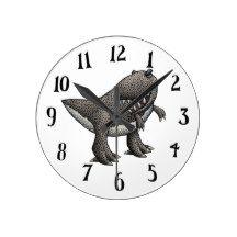 Tyrannosaurus Rex Wall Clock on Zazzle