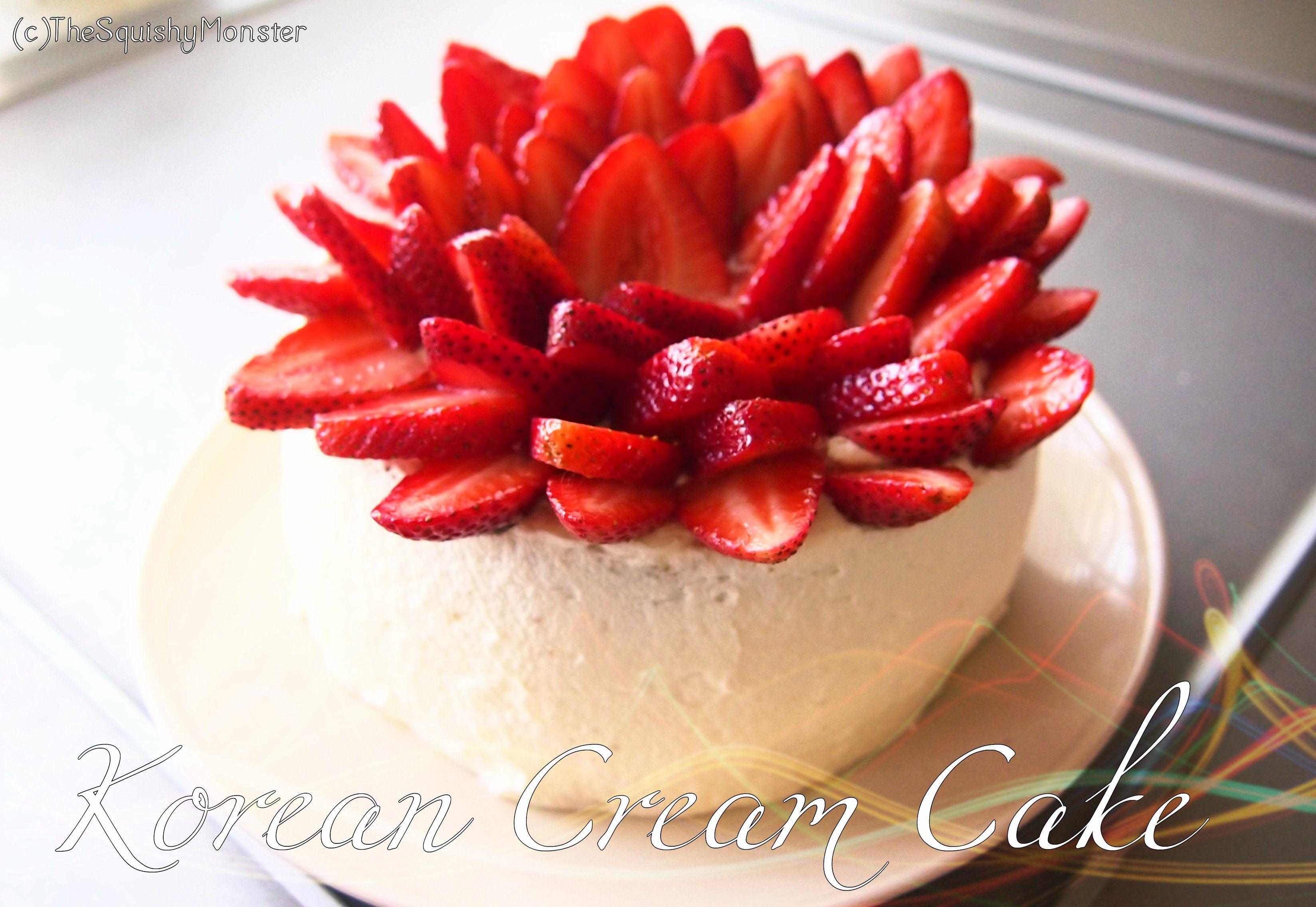 Korean Fresh Cream & Fruit {Birthday} Cake 생크림 케이크 | Recipes ...