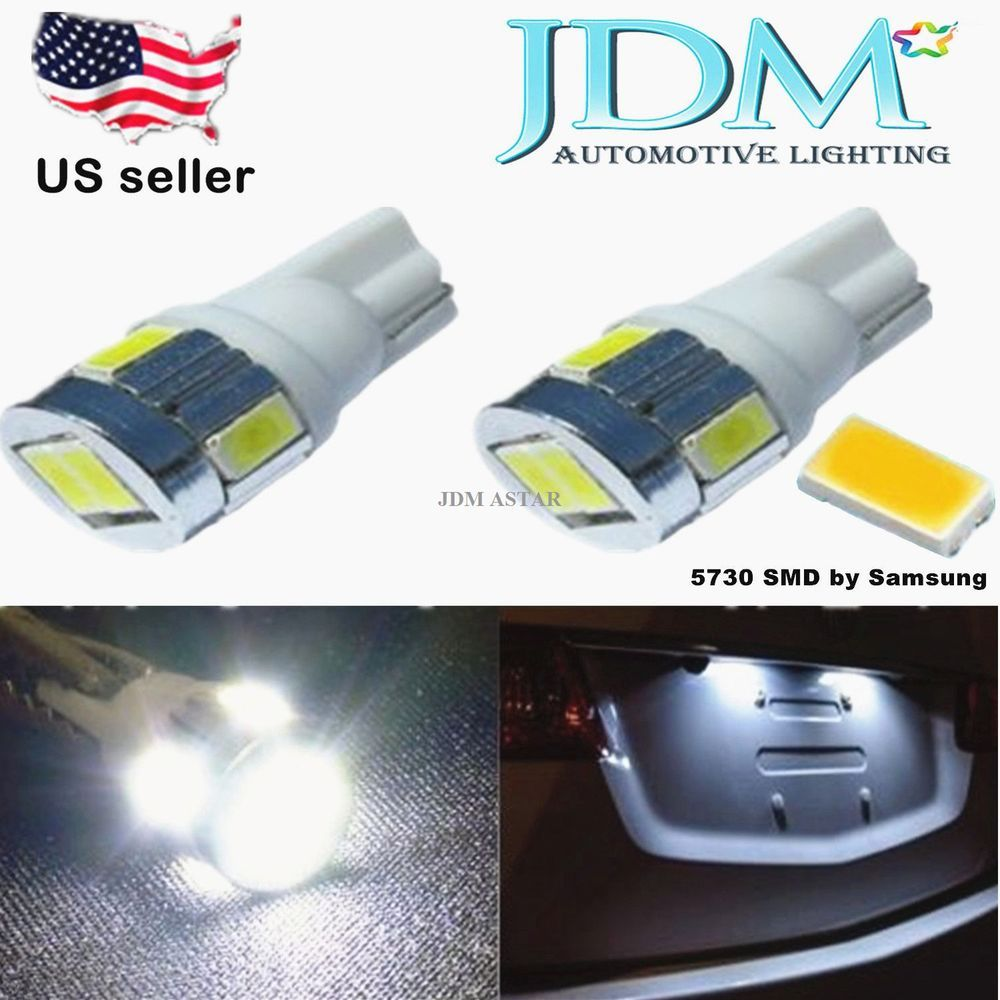 Jdm Astar 2x White T10 Wedge 5730smd Led Liecnse Map Light Bulb 194 168 2825 W5w Automotive Led Lights Led Light Bulb Led Replacement Bulbs