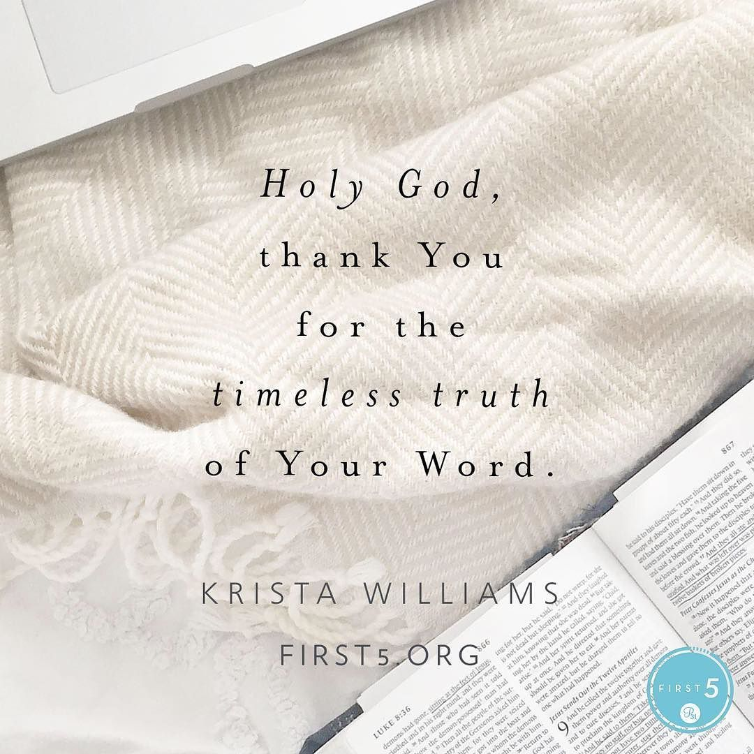 """#First5 @first5app @kristawilliams14 """"My Moment: How will you love God and love others today?"""""""