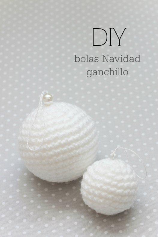 Patrón para hacer bolas de Navidad de ganchillo para el árbol ...
