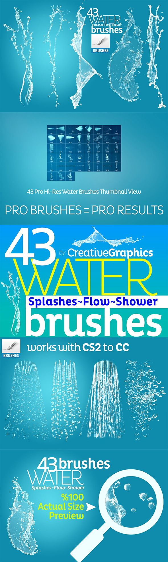 Water Brushes For Photoshop Cs2 Cc Brushes Photoshop Idei Dlya
