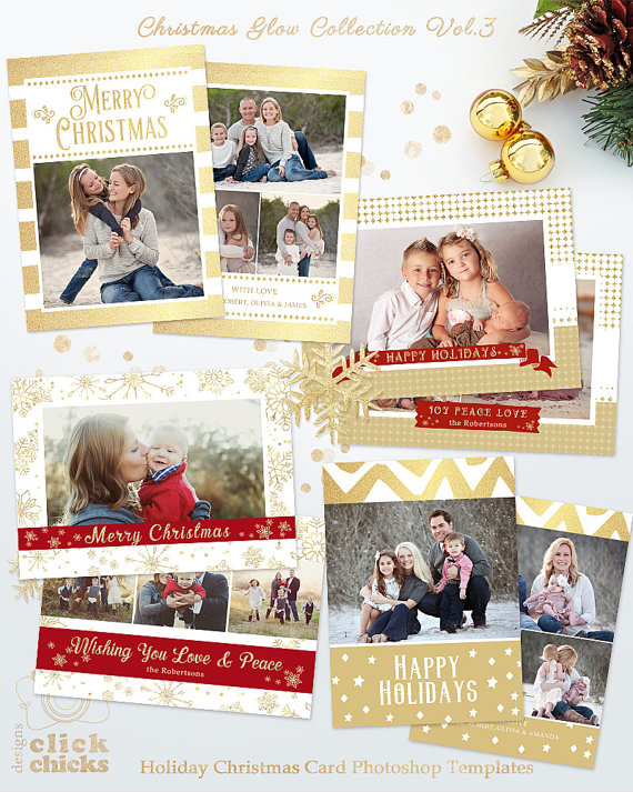 Save 45 Bundle Holiday Christmas Card By Clickchicksdesigns Holiday Card Template Christmas Card Template Holiday Photo Cards