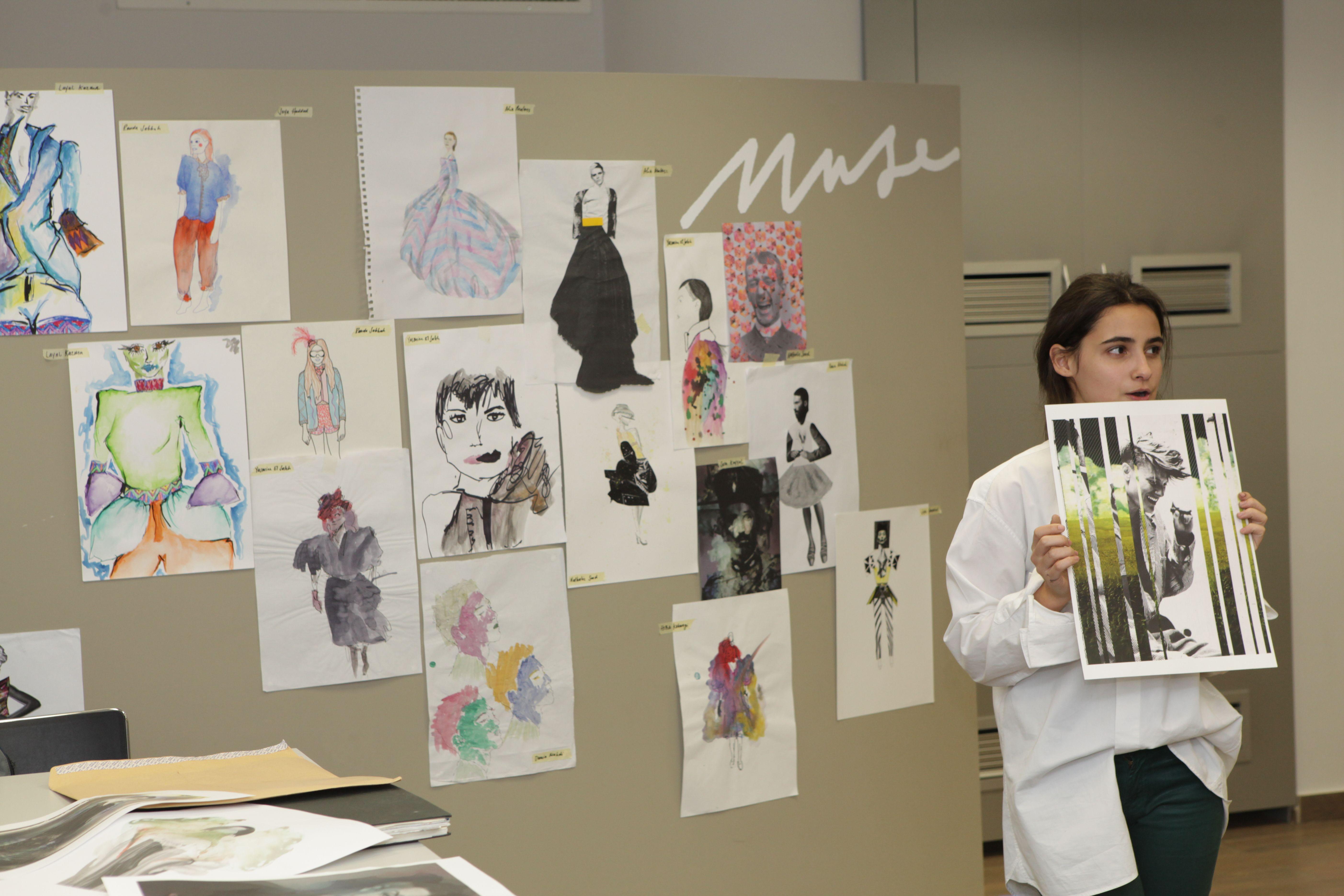 Fashion Design Student Explaining Her Work To The Jury Fashion Design London College Of Fashion Design