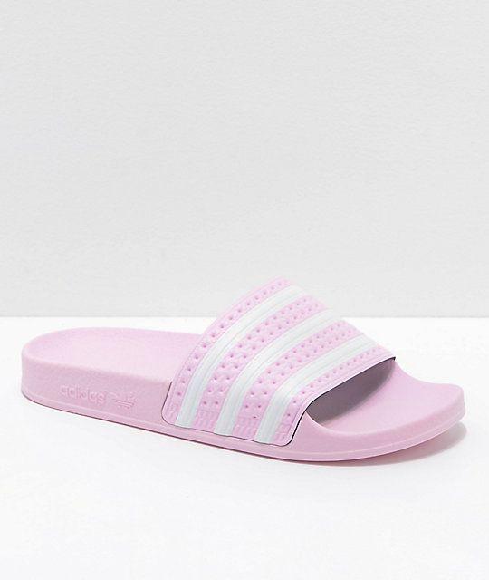 2f45efd98c23 adidas Kids Adilette Pink Slide Sandals