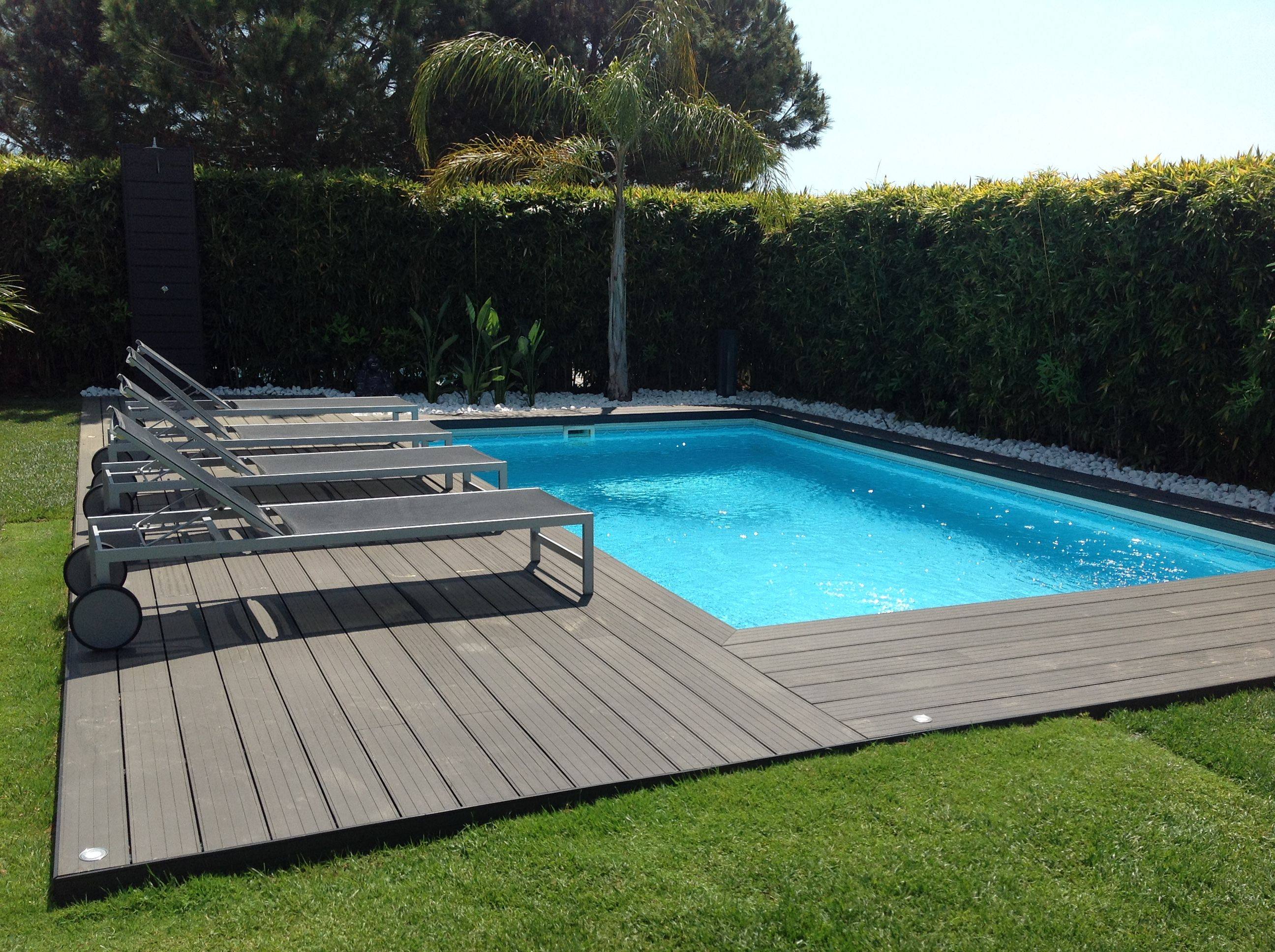 Piscinas 8x4 Tarima Sintética Piscinas En 2019 Decks Around Pools
