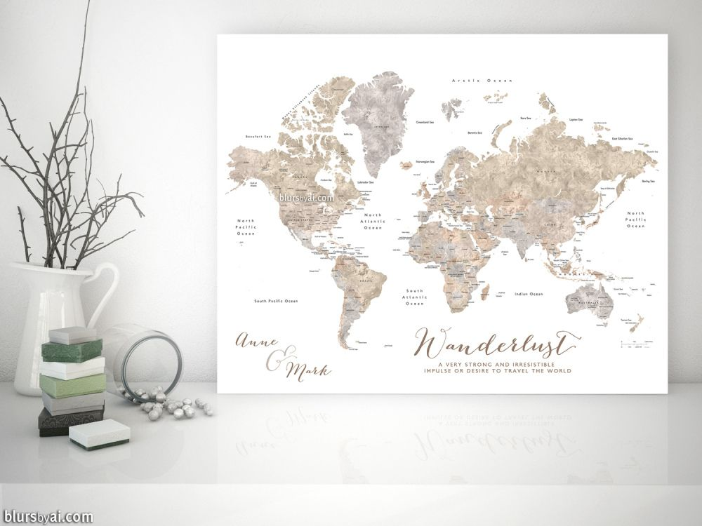 on pinnable world map