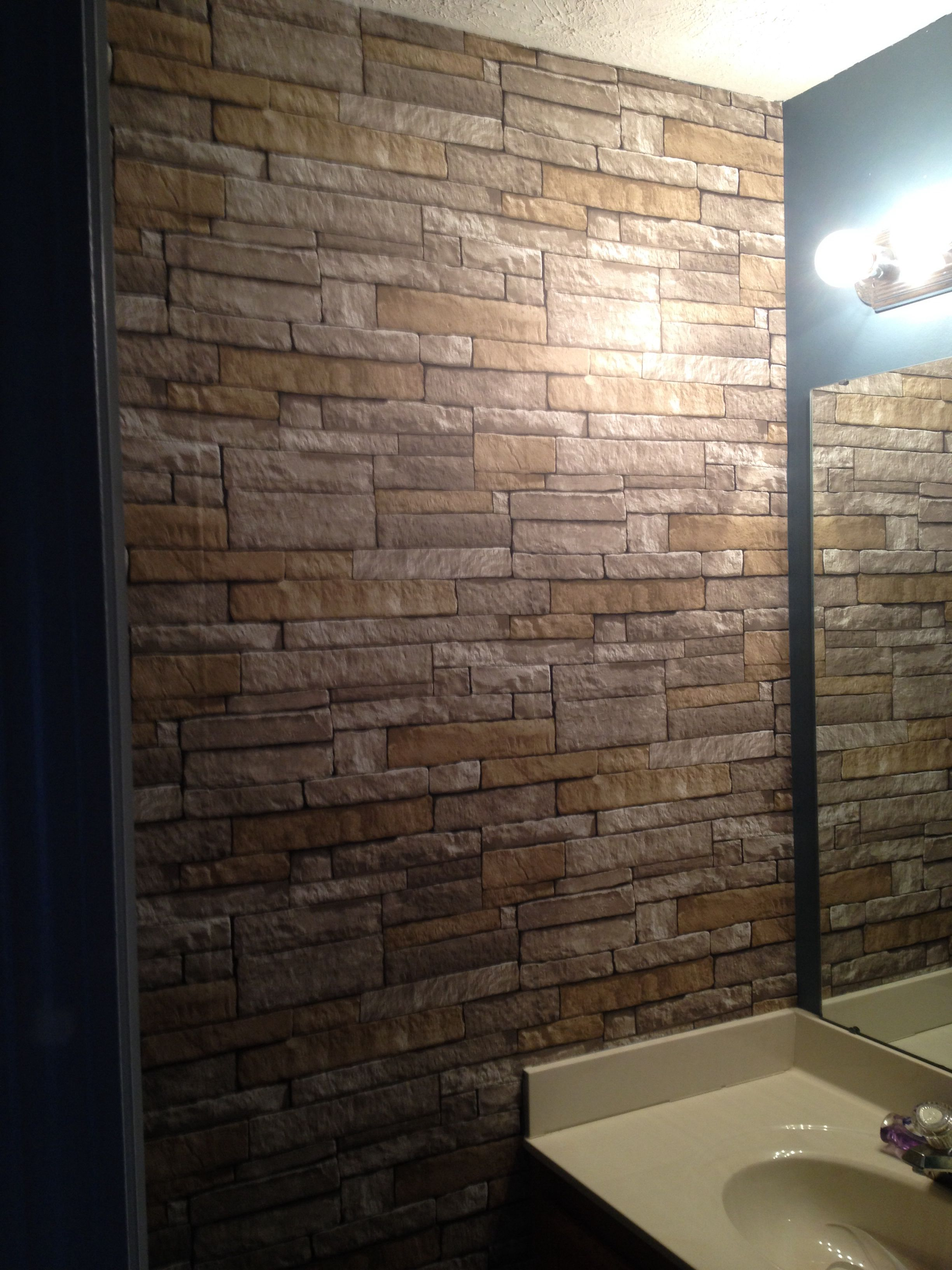 brick wallpaper 32 for about 60 sq ft; allen + roth lowes