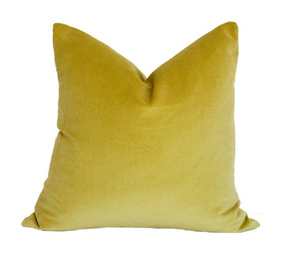 Pretty Velvet Pillows On Etsy Honeydew Green Velvet
