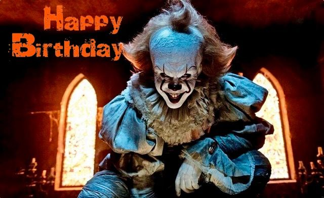 pennywise happy birthday Pennywise Birthday2   Happy Birthday in 2019   Pinterest   Movies  pennywise happy birthday