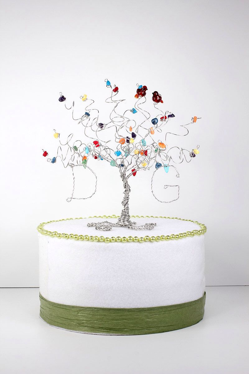 how to decorate wedding cake birds wedding cake topper custom wire tree sculpture 4918