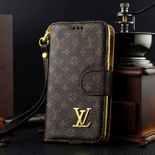 low priced 6c956 887b6 Louis Vuitton Samsung Galaxy S5 Case LV Wallet Monogram Brown ...