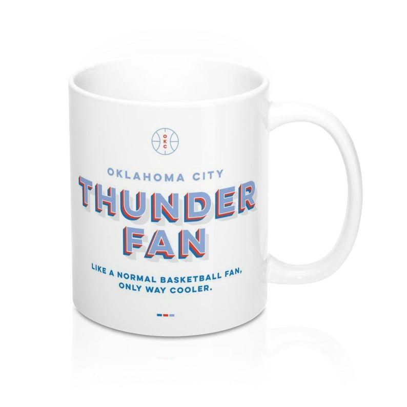 Thunder Mug Thunder Fan Sports Gift Okc Thunder Etsy Sports Gifts Basketball Fan Gifts New York Knicks