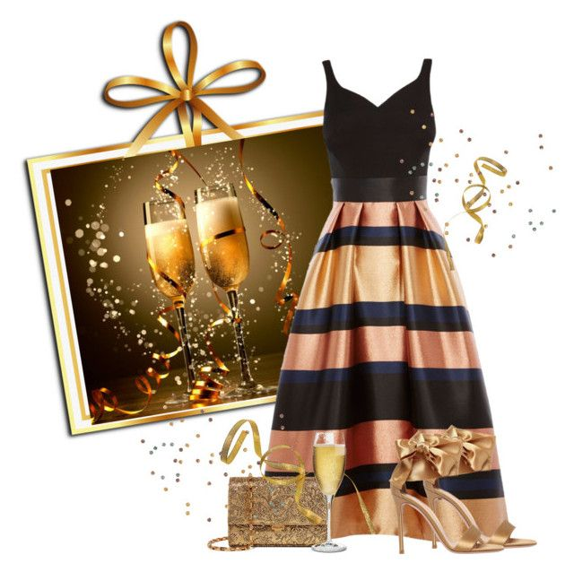 """Happy New Year"" by kimzarad1 ❤ liked on Polyvore featuring Coast, Gianvito Rossi, Michael Kors and Riedel"