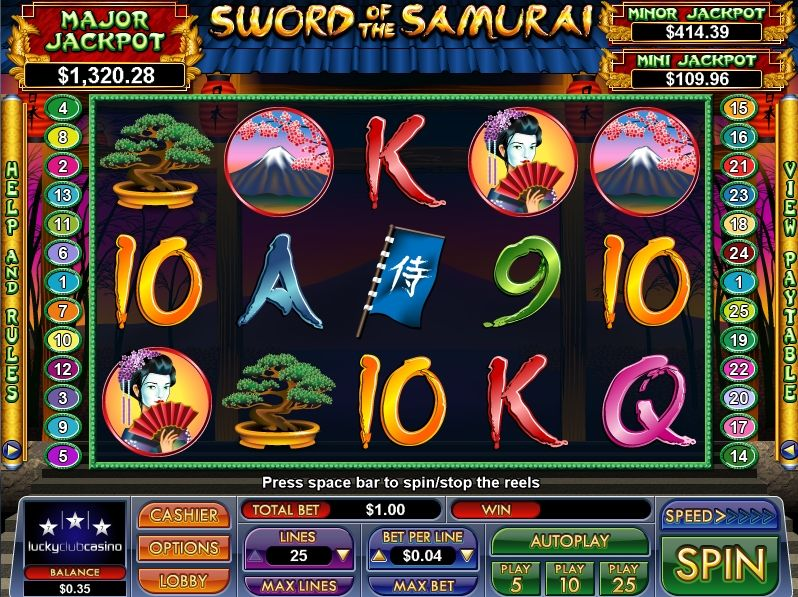Japanese Themed Casino Game With Jackpots Plus Other