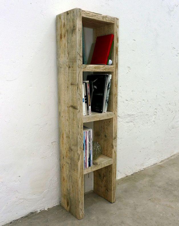 Bücherregal aus altem Bauholz \/ Badezimmer-Regal - regale für badezimmer