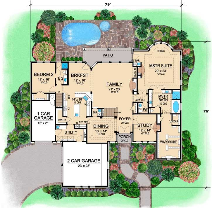 Main Floor Plan French Country House Plans Floor Plans Monster House Plans